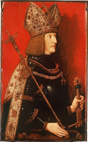 Imperial crown - Emperor Maximilian I wearing a crown with mitre