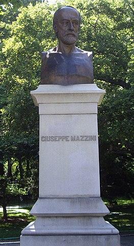 Бюст Дж. Мадзини в Центральном парке Нью-Йорка