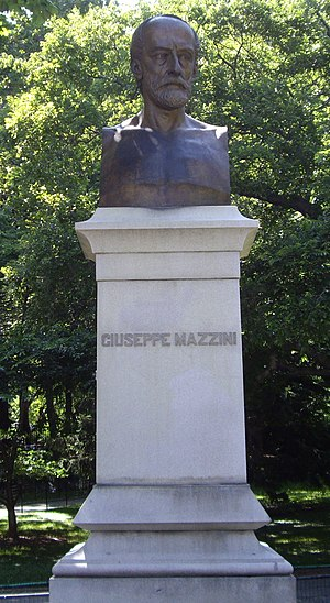 Giuseppe Mazzini (sculpture) - The sculpture in 2007