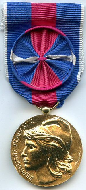 Medal for voluntary military service - Image: Medaille des Services Militaires Volontaires Or