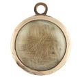 Medaljong med hår, cirka 1783 - Livrustkammaren - 98919.tif