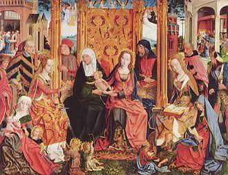 Holy Kinship - Image: Meister der Heiligen Sippe 001