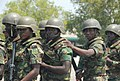 Members of the Ghana Army 2nd Engineer Battalion practice riot control techniques during a nonlethal training demonstration June 26, 2013, in Accra, Ghana, as part of exercise Western Accord 2013 130626-A-ZZ999-019.jpg