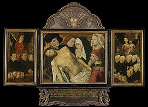 Memorial Triptych with Lamentation