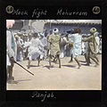 Men having a mock stick fight during Muharram, Jammu, ca.1875-ca.1940 (imp-cswc-GB-237-CSWC47-LS10-040).jpg