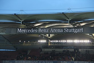 Mercedes-Benz Arena (Stuttgart) - Name logo of Mercedes-Benz-Arena