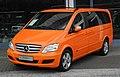 Mercedes-Benz Viano Lang CDI 2.2 BlueEFFICIENCY Trend (V 639, Facelift) – Frontansicht, 13. Juni 2011, Wuppertal.jpg