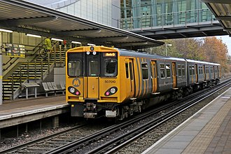 Liverpool South Parkway railway station - Merseyrail Northern Line train at the station