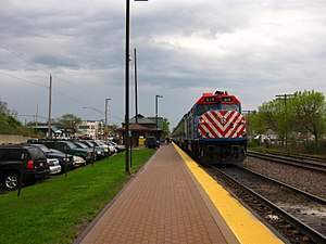 Chain O'Lakes - The Metra Train Station in Fox Lake shown as of 2009