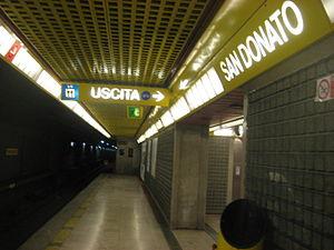 San Donato (Milan Metro) - Image: Metro San Donato