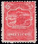 Mexico 1896-97 5p perf 12 Sc267 unused.jpg