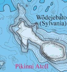 Micronesia and Marshall islands bathymetry, Wōdejebato (Sylvania) Guyot.png