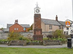 Penyffordd - Image: Millennium Clock, Penyffordd (1)
