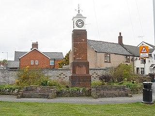 Penyffordd village in Wales