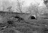 Miller Creek Bridge, Spanning Miller Creek at Miller Creek Road (CR 86), Batesville vicinity (Independence County, Arkansas).jpg