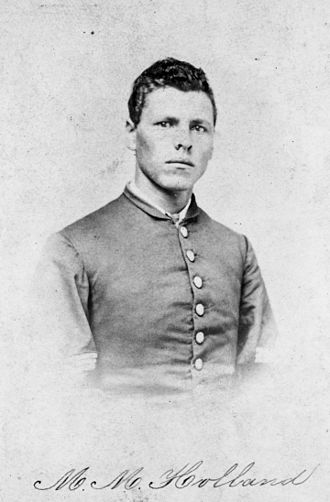 Milton M. Holland - This photograph was probably taken earlier, in 1863 or 1864, than the other one with the medals.