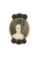 Miniatyrporträtt av prinsessan Hedvig Sofia av Sverige (1681-1708). Från 1700 cirka - Livrustkammaren - 97900.tif