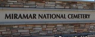 Miramar National Cemetery military cemetery in San Diego