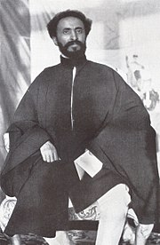 Hailie Selassie, Emperor of Ethiopia faces his country being invaded and occupied by Italy and is forced into exile.