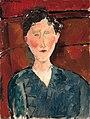 Modigliani - Portrait de femme au corsage bleu, circa 1916.jpg