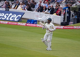 Mohammad Ashraful - Mohammad Ashraful walking in to bat at Lords in a Test match against England in 2010. He scored 50 runs in the two-Test series.