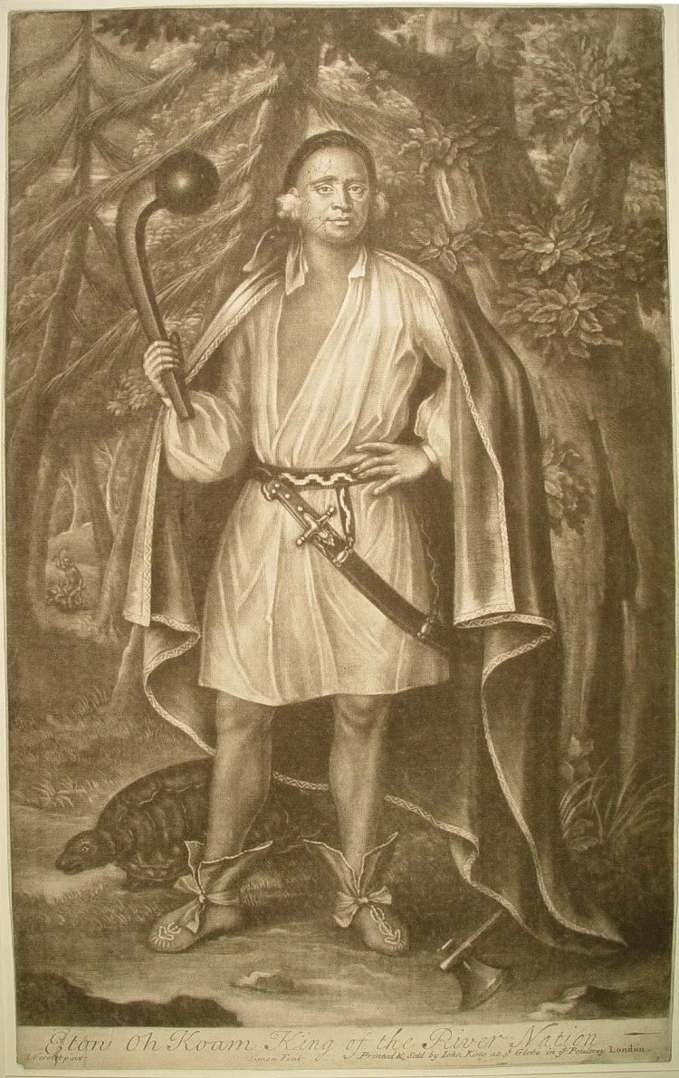 Mohawk king engraving