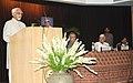 Mohd. Hamid Ansari addressing at the Birth Centenary celebrations of former President of India, late Shri R. Venkataraman, in New Delhi on July 30, 2011. The Governor of Punjab, Shri Shivraj Patil is also seen.jpg