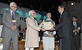 Mohd. Hamid Ansari presented the J&K Young Scientist award-2010 to the Young Researcher, at the 8th J&K Science Congress, at Kashmir University, in Srinagar, Jammu and Kashmir. The Governor of Jammu and Kashmir.jpg