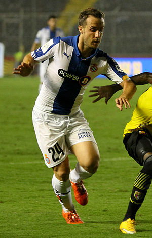 Francisco Montañés - Montañés playing for Espanyol in 2015