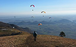 Monte Valinis paragliding take-off place