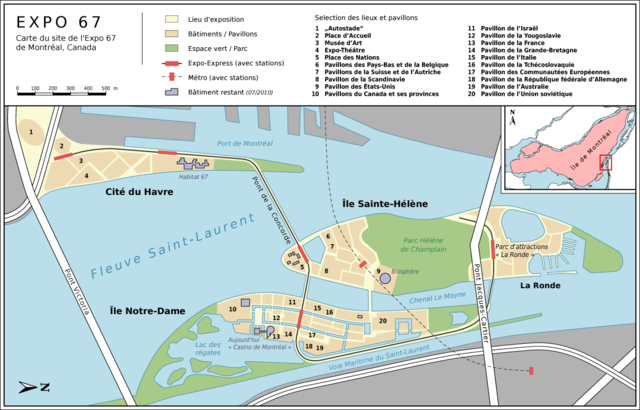 Carte Du Canada Montreal.File Montreal Expo 67 Carte Du Site Png Wikimedia Commons