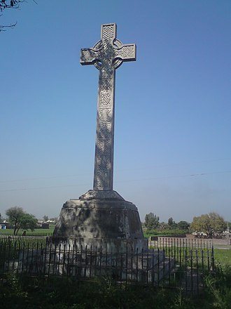 Chillianwala - The monument of the Battle of Chillianwala is positioned near the graveyards to honour the fallen soldiers