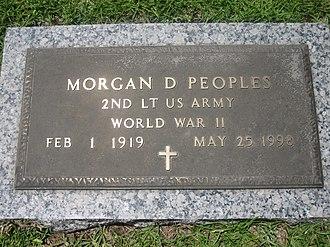 Morgan D. Peoples - Morgan Peoples' gravestone in Forest Lawn Memorial Park in Ruston