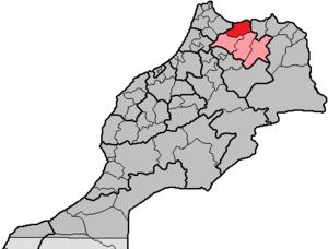 Al Hoceïma Province - Al Hoceïma Province in the region Taza-Al Hoceima-Taounate
