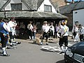 Morris Dancers getting ready to perform at Dunster - geograph.org.uk - 925186.jpg