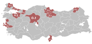 Mother language in 1965 Turkey census - Albanian.png