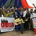 Motivational Speakers and musicians Cheer at crowd.jpg
