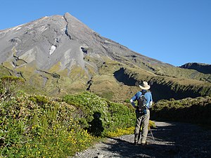 Egmont National Park - Low on the trail to the summit of Mount Taranaki