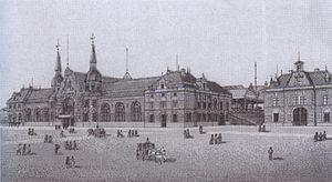 Münster Hauptbahnhof - Münster Central Station 1890