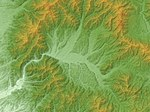 Mukaimachi Caldera Relief Map, SRTM-1.jpg