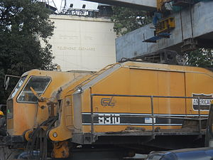 Line 1 (Mumbai Monorail) - Equipment used in the construction the monorail line.