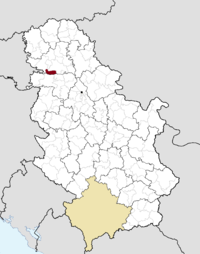 Location of the municipality of Beočin within Serbia