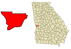Muscogee County Georgia Incorporated and Unincorporated areas Columbus Highlighted.svg