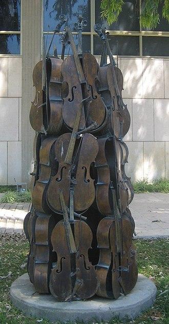 Lola Beer Ebner Sculpture Garden - Image: Music Power No. 2', bronze sculpture by Armand P. Arman, 1986, Tel Aviv Museum of Art, Tel Aviv, Israel
