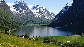 Sogn og Fjordane - Image: Myklebustdalen sanddal fjordane