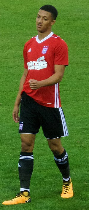 Myles Kenlock - Myles Kenlock playing for Ipswich Town in 2017