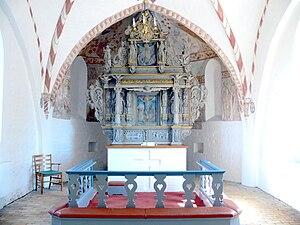 Jørgen Ringnis - Jørgen Ringnis: Altarpiece in Nørre Alslev Church (1653)