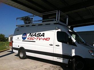 NASA TV - NASA TV broadcasting truck