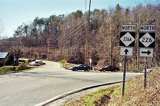 North Carolina Highway 226A - NC 226A / NC 226 in Turkey Cove