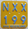 NETHERLANDS, 1998 -MOPED LICENSE PLATE - Flickr - woody1778a.jpg